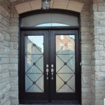 : Exterior double doors with transom look much more impressive