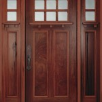 Exterior fiberglass door with speakeasy came from old times