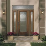 : Exterior fiberglass doors with glass look gorgeous