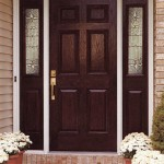 : Exterior fiberglass doors with sidelights are durable for shocks