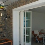 : Exterior folding doors in USA are often customized by the house owners