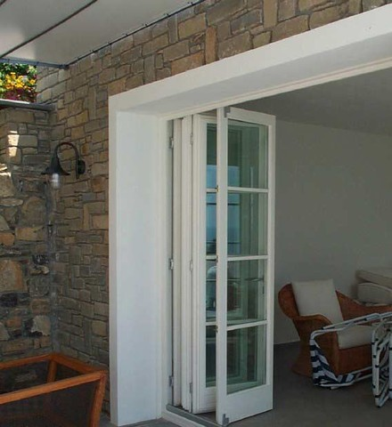 Exterior folding doors in USA are often customized by the house owners