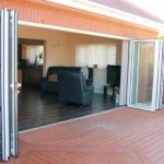 : Exterior folding glass patio doors add more light to your house