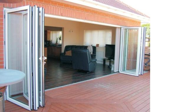 Exceptional Exterior Folding Glass Patio Doors Add More Light To Your House