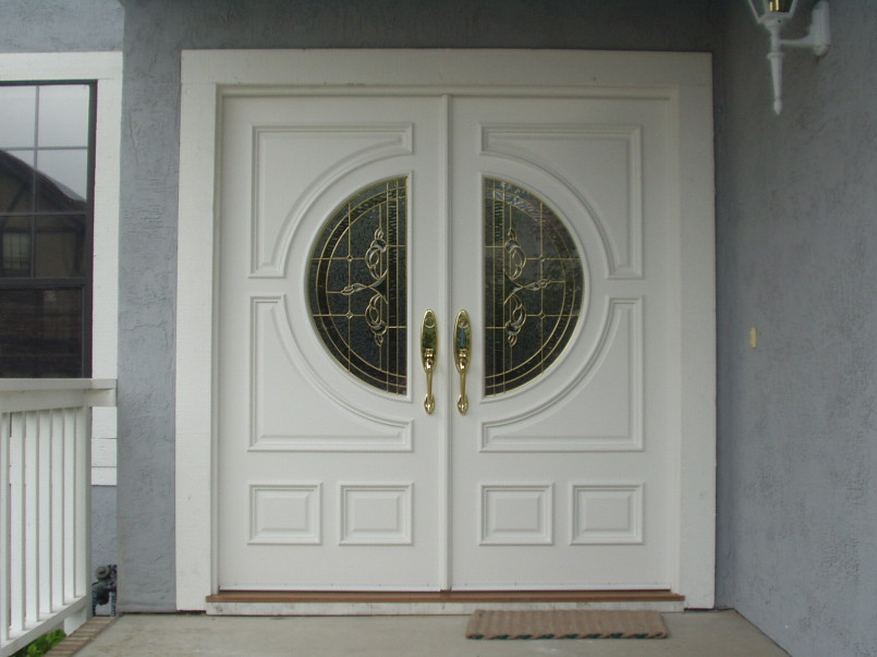 Exterior glass double doors will add elegance to your home