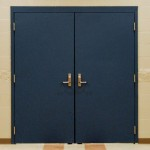 : Exterior metal double doors are more resistant to damage and easy to maintain