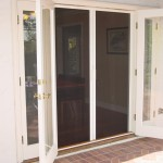 : Exterior of French doors with built in screens can be decorated