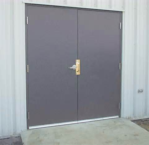 Exterior steel double doors are durable and damage resistant