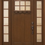 : Fiberglass craftsman style entry doors look amazing and can fit in any place