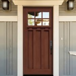 : Fiberglass craftsman style exterior doors are eye catchy and definitely adorn