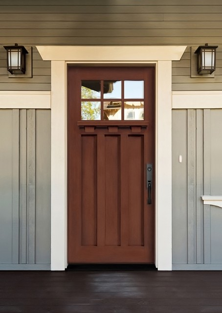 Fiberglass Craftsman Style Exterior Doors Are Eye Catchy And
