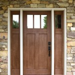 : Fiberglass craftsman style front entry doors are very durable and protective