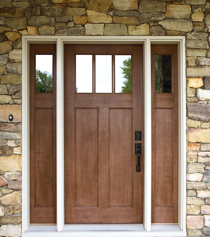 Fiberglass craftsman style front entry doors are very durable and protective