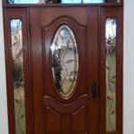 : Fiberglass exterior doors can be accomplished with sidelights and transom