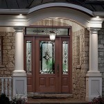 : Fiberglass exterior doors can be designed in rustic style