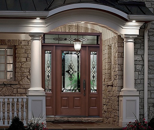 Fiberglass exterior doors can be designed in rustic style