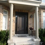 Fiberglass exterior doors with wood grain texture