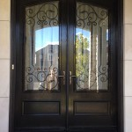 : Fiberglass exterior doors wrought iron are unusual
