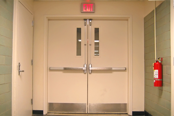 Fire rated wood door with window are likely to be installed in the factories