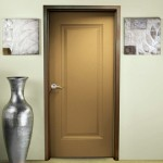 : Fire rated wood doors have metal frames for protection