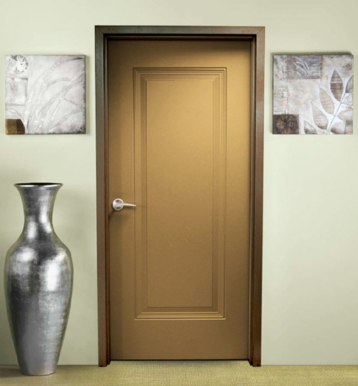 Fire rated wood doors have metal frames for protection