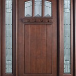 : Fire rated wood doors with glass are equipped by steel inserts for safety