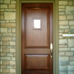 : Fire rated wood entry doors have various styles