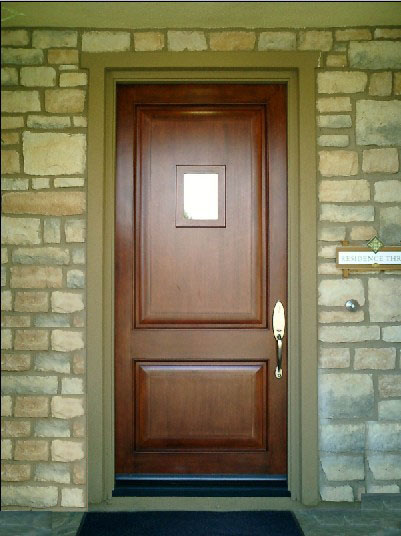 Fire rated wood entry doors have various styles