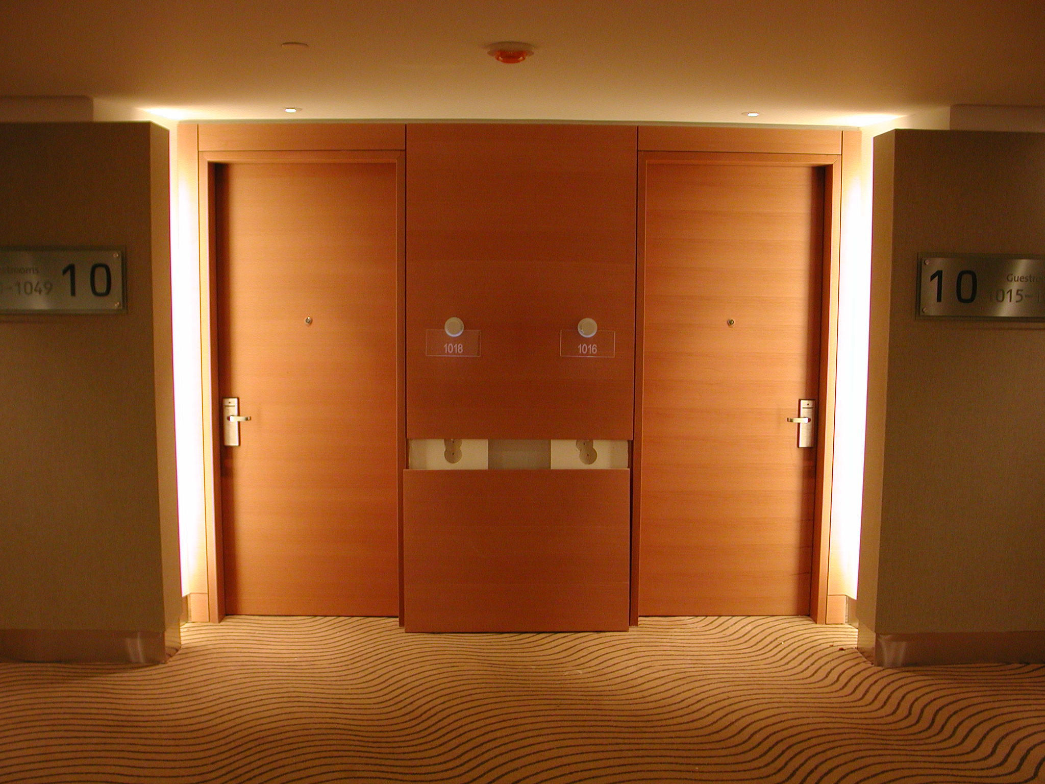 Fire rated wooden doors in UAE can be installed as an entry way in a hotel