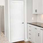 : Flat panel solid core interior doors may be painted or varnished after installation