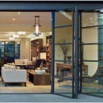 : Folding  exterior aluminum doors are very light and durable