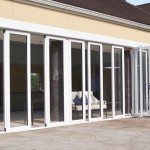 Folding exterior patio doors expand the house passage