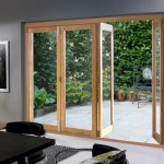 : Folding patio doors of wood are quality and will serve you for many seasons