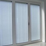 : Folding patio doors with integral blinds help to regulate getting of sunlight