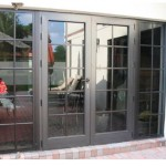 : French entry doors made of wood can have a luxurious style