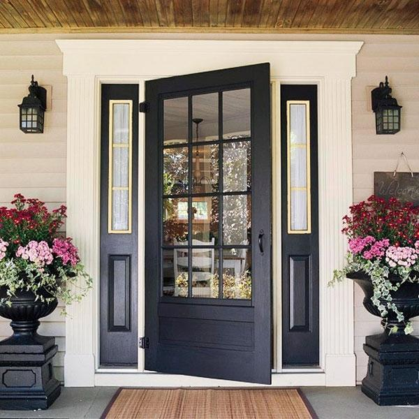 French exterior doors with blinds can possess various color schemes