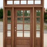 : French exterior doors with sidelights are convenient when it is dark