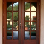 : French front doors can be made of quality wood