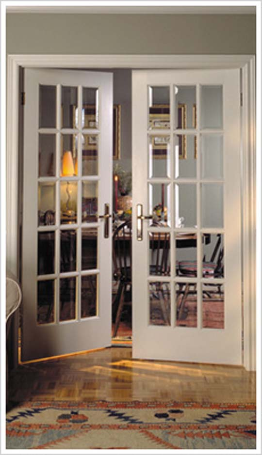 French front doors with glass inserts have very pleasant appearance