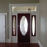 Front door with right side light will help you to use keys in the dark period of time