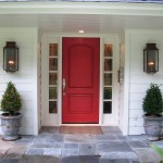 Front door with sidelights can possess a stopper for rough opening
