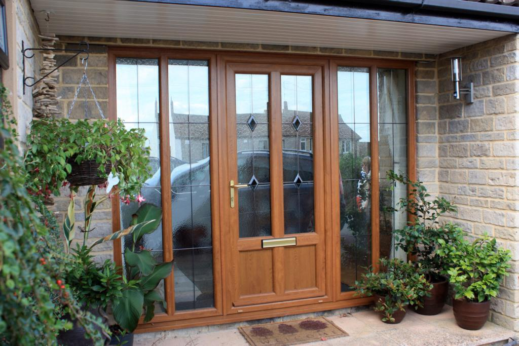 Front doors for homes with glass give cozy effect