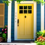 : Front doors for small homes have minimalistic styles