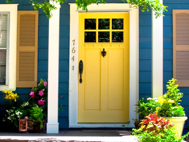 Front doors for small homes have minimalistic styles