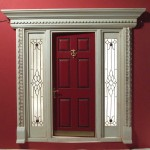: Front doors with sidelights in UK are a common choice of householders