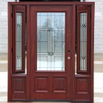 Front doors with sidelights that open inside are a tradition variant