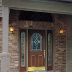 : Front doors without sidelights is an option for well lighted street