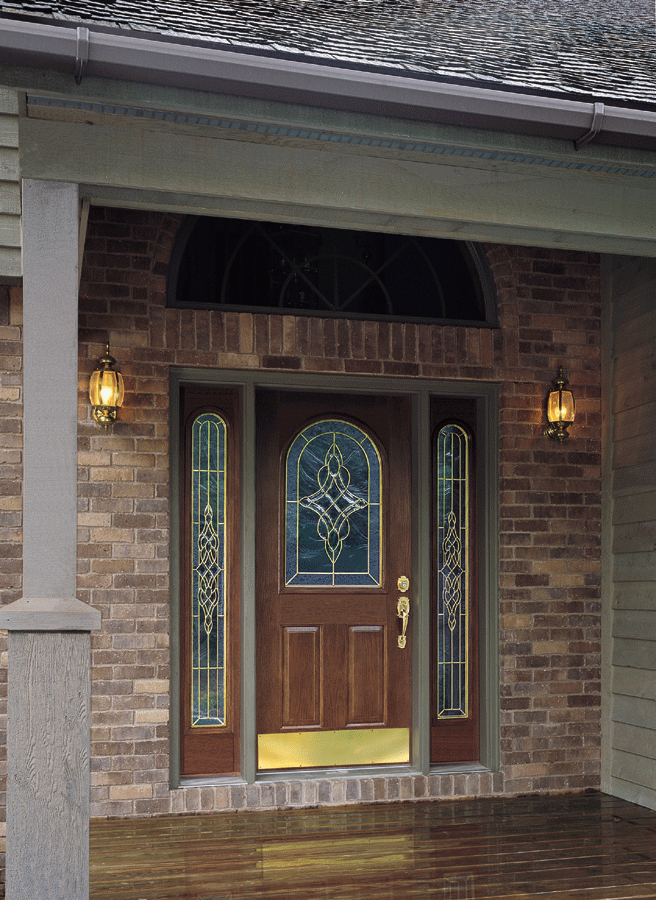 Front doors without sidelights is an option for well lighted street