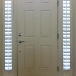Front entry doors with sidelights can be equipped with movement sensor