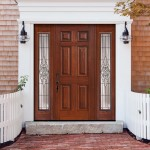 : Front entry doors with sidelights made of fiberglass are a good solution